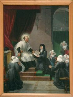 Daughters Of Charity St. Louis | ... , Maison Mere, Vincent de Paul gives rules to Daughters of Charity