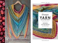 Deze prachtige omslagdoek staat in de Yarn afterparty 06.