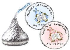 First+Holy+Communion+party+ | 216 1st Holy Communion Party Favors Hershey Kiss Kisses Labels | eBay