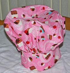 Pink Cupcake  Adult Chef Hat by AGiftToTreasure on Etsy, $25.00