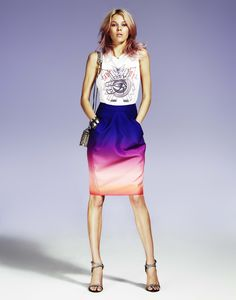 Nilson ombre skirt and t shirt
