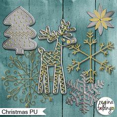 Free scrapbook Christmas elements from Regina Falango– {PU}