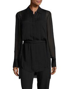 Dkny Cutout Caplet Tunic Women's Black 2