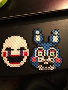 Enjoy these FNAF coasters made just for you! Cute Crafts, Yarn Crafts, Bead Crafts, Freddy Plush, Pokemon Perler Beads, Hama Beads Patterns, Melting Beads, Perler Bead Art, Fuse Beads