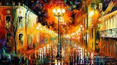 Leonid Afremov Night Mystery oil painting reproductions for sale