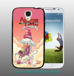 #Adventure Time with #Fionna Cake , For #Samsung #S4 i9500 Black #Case