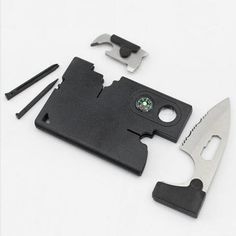 Hight Quality 9 in 1 Outdoor Pocket Card Knife EDC Tools | Features: Camping, Hiking, Fishing, Survival