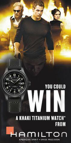 Win a Khaki Titanium Watch from Hamilton February 06/2014 UNLIMITED ENTRY CANADA