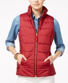 TOMMY HILFIGER Tommy Hilfiger Printed Puffer Vest. #tommyhilfiger #cloth # jackets