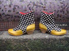 souliers, chaussures artisanales en cuir pour femme - création Julie Pillet