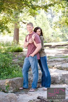 Surprise engagement and photo shoot at woodward park in Tulsa Oklahoma. Woodsy engagement shoot. Outdoor engagement. Love that spring foliage.