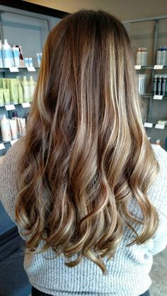 Dimensional ombre. Perfect for a first hair color. #aveda #babylights #ombre #chestnut #ombre #sombre #haircolor