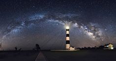Guiding Lights, above and below ... Bodie Island Lighthouse, Outer Banks, NC | by Carey Plemmons via Our State