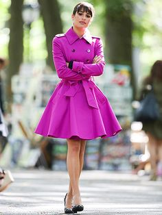 Not sure I could pull this off... But I love this #pink trenchcoat.