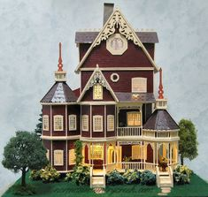 Handcrafted Quarter Scale Ashlyn or Ashley Victorian Mansion at Norman's Country Creek