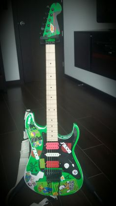 My own Green Meanie Guitar Project - Steve Vai (the master of masters)