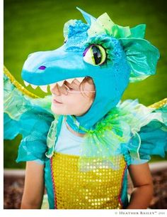 Dragon costume & mask (different colors, but I like how they constructed this)