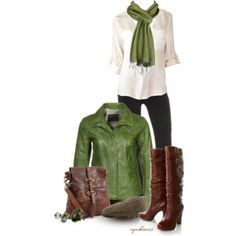 GREEN AND BROWN ----
