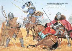 Angus McBride - Guerreros rusos occidentales, siglo XV.