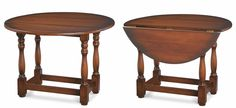 """Providence Dining Table with Drop Leaves - Handcrafted from mahogany. - Shown in aged honey stain. - Item # BR-66142 - 30""""H x 42""""Round - 50+ color & art options."""