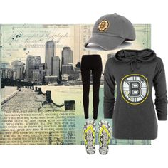"""""""Boston Bruin Chick"""" by lids4hats on Polyvore"""