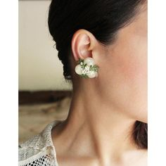 VINTAGE AURORA BEADS BOTANICAL EARRING /ヴィンテージイヤリング