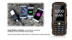 Vkworld Stone V3 5200mAh Waterproof Dustproof Dropproof Dual SIM Mobile Phone Sale - Banggood.com