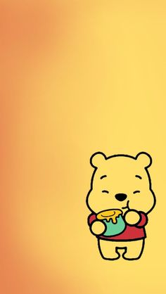 Winnie the Pooh iPhone wallpaper/ screensaver | cute, tumblr and girly