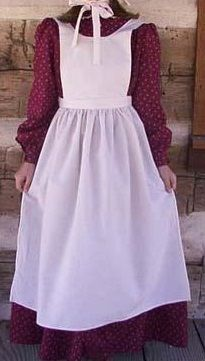 Childs pioneer pinafore apron