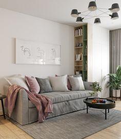 Небольшая квартира, оформленная в теплых тонах 0