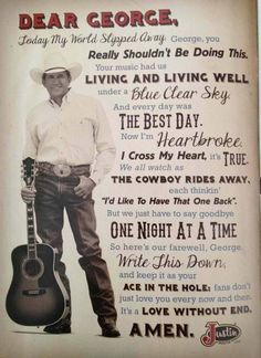 George Strait, forever the King of country. Who couldn't love George Strait? Country Lyrics, Country Music Quotes, Justin Boots, Country Artists, Country Singers, Country Musicians, Music Lyrics, My Music, Music Film