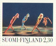 """1993 Finland - Four dancers in """"The faun"""" ballet"""