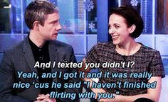 Martin Freeman and Amanda Abbington being adorable