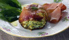 Sformatini di Spinaci in Crosta di Prosciutto Crudo Cantinetta Antinori