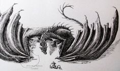 Ink dragon 5 - Hi there by chaosia on DeviantArt Sepia Color, Dragon Artwork, Dragon Pictures, Dragons, Beowulf, Deviantart, Ink, Happy Things, Black And White