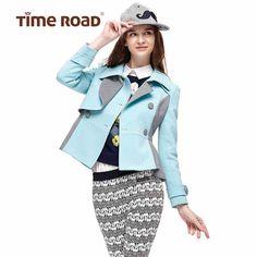 Time RoaD/汤米诺时尚拼接长袖短款外套收腰修身T17311171396-tmall.com天猫
