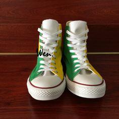 d1f932750d6 Brazil Flag Converse All Star Bird Hand Painted Canvas Sneakers