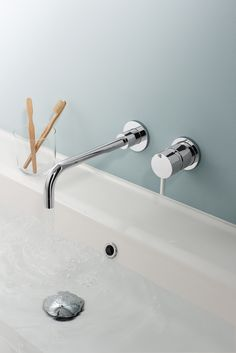 Exclusive Offer On This Crosswater Kai Lever Wall Mounted 2 Hole Basin Mixer Tap Set Manufacturing Code Of Chrome Is