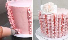 Cake decorating for beginners.Buttercream cake design easy to make. Buttercream cake tutorial.