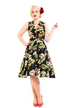 Love ur Look Clothing and Vintage » Tropical Green Leaf Dress