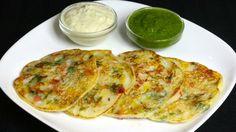 Pfannkuchen Rezept aus Indien - Uttapam zubereiten