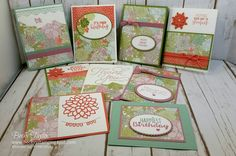 Creating with Becky's Stamping Spot | blog Succulent Garden, One Sheet Wonder, Greeting Cards, Stampin' Up!,