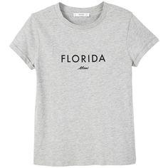 MANGO Message cotton t-shirt (170 ARS) ❤ liked on Polyvore featuring tops, t-shirts, shirts, t shirt, cotton tees, mango tee, shirt top and cotton t shirts