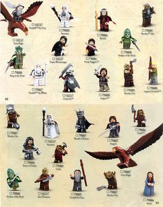 lego the lord of the rings minifigures