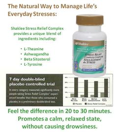 Here is a great stress relief tip: Stress Relief Complex from Shaklee. All natural. Relief in 20 -30 minutes. I love it!