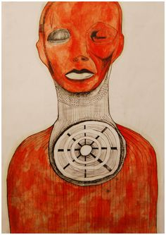 Drawing - II by Levan Ochkhikidze, via Behance Squaring The Circle, Behance, Community, Fine Art, Drawings, Illustration, Blog, Fictional Characters, Notebook