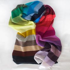 Gift for Tiffany This is one of my favorites on Golightly Cashmere: The Rainbow Scarf