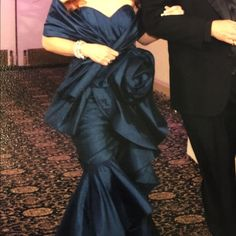 Exquisite Gown. Perfect for anytime of year. Blue gown with scarf worn once. Stunning. Has been slightly altered. Jovani Dresses Prom