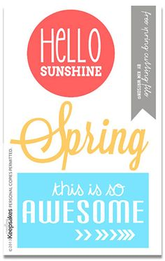 Free Download: Spring cutting File #Silhouette #CutFile