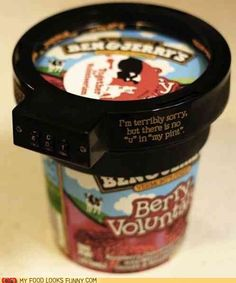 "I cracked up at this. Evidently the inventor is NOT addicted to B Ice cream bcuz they would instantly think ""Time to cut the bottom of a flimsy cardboard container off"" LOL"